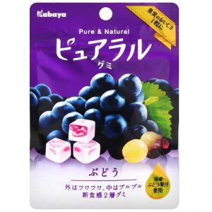 日本Kabaya葡萄牛奶软糖45g/Kabaya Purela Grpae Gummy 45g
