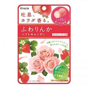 日本kracie嘉娜宝草莓玫瑰香体糖果32g/Kracie Strawberry Beauty Rose Soft Candy 32g