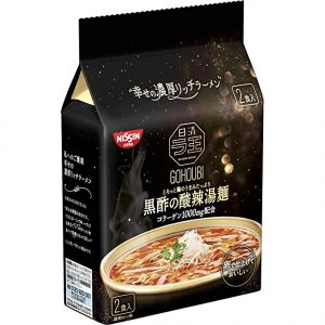 日本Nissin日清酸辣汤面2包装208g/Nissin Black Soy Sauce Noodle 2pk 208g