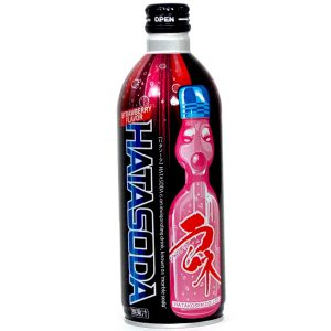 日本HATA波子碳酸汽水草莓味500ml/Ramune Soda Strawberry 500ml