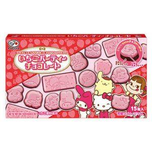 日本FUJIYA不二家动物双层草莓巧克力15粒40g/FUJIYA Strawberry Chocolate 15pcs 40g