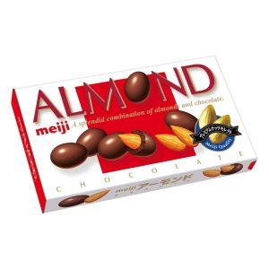日本Lotte乐天期间限定香杏仁夹心巧克力88g/Meiji Almond Chocolate 88g