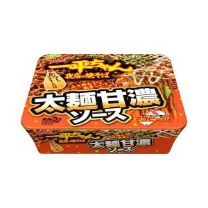 日本明星一平夜店美乃滋浓郁酱油炒面131g/Ippeichan Yomise No Soba Futomen Sweet Sauce 131g