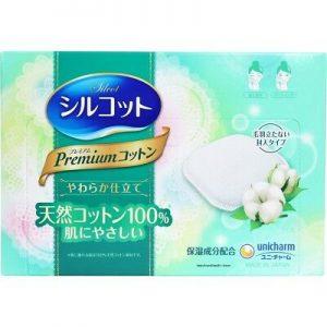 日本尤尼佳COSME推荐No.1Silcot省1/2卸妆水 保湿成分卸妆棉化妆棉66枚入