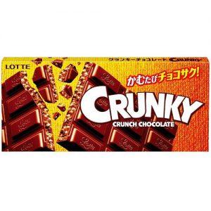 日本Lotte乐天Crunky脆香米夹心巧克力45g/Lotte Crunky Chocolate 45g