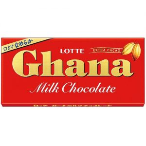 日本Lotte乐天Ghana牛奶巧克力55g/Lotte Ghana Milk Chocolate 55g