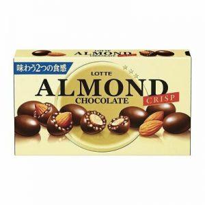 日本Lotte乐天脆米杏仁夹心巧克力89g/Lotte Almond Chocolate Crisp 89g