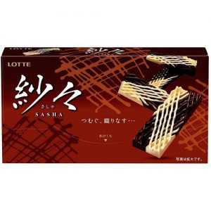 日本Lotte乐天纱网织黑白巧克力69g/Lotte Sasha Chocolate 69g
