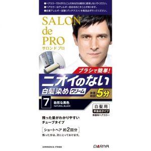 日本DARIYA SalonDePro男士染发剂#7号纯黑色