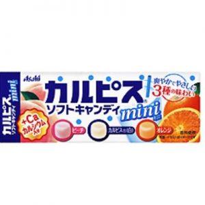 日本Asahi可尔必思三种水果味混合糖40g/Asahi Calpis Soft Candy Mini 40g