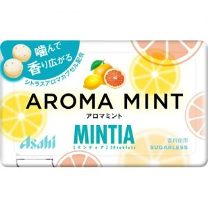 日本Asahi柠檬AROMA MINT MINTA薄荷糖50粒/Asahi Aroma Mint MINTA Candy 50pcs