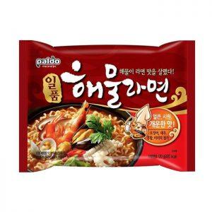 韩国Paldo御膳章鱼海鲜风味拉面单包装120g/Paldo Spicy Seafood Noodle Soup 120g