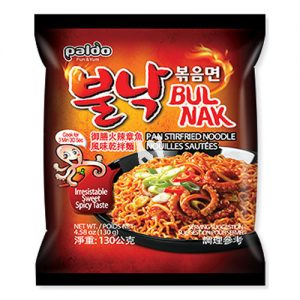 韩国Paldo御膳火辣章鱼风味干拌面单包装130g/Paldo Instant Noodle With Octopus Flavored Spicy Sauce 130g
