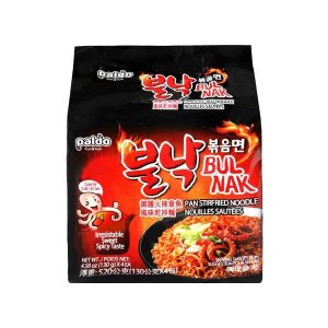韩国Paldo御膳火辣章鱼风味干拌面4连包520g/Paldo Instant Noodles With Octopus Flavored Spicy Sauce 4pk 520g