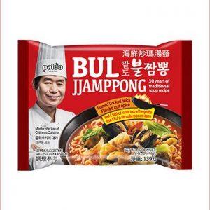 韩国Paldo极火炒码海鲜汤面单包装139g/Paldo Instant Noodles With Flamed Spicy Seafood Soup 139g