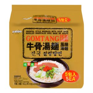 韩国Paldo名家牛骨汤面5连包510g/Paldo Gomtang Korean Noodles With Soup Base 5pk 510g