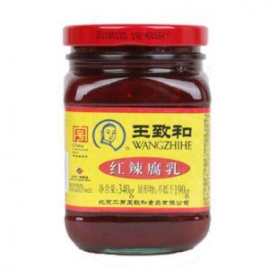 王致和/红辣腐乳 340G/WZH/PREZERVED BEANCURD 340G