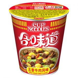 日清合味道BIG五香牛肉味110g/Nissin Spicy Roast Beef Flavor Cup Noodles 110g
