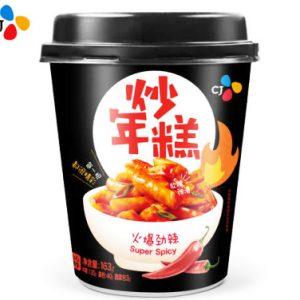 韩国CJ即食火爆劲辣炒年糕杯装163g/CJ Cup Topokki Spicy Flavor 163g