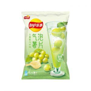 乐事春季限定气泡薯片白葡萄汽水味70g/Lays Green Grape Soda Flavor Potato Chips 70g