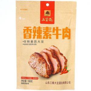 五贤斋香辣素牛肉108g/WXZ Dried Bean Curd Hot Flavor 108g