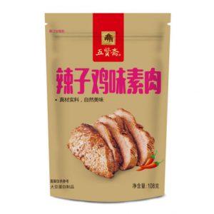 五贤斋辣子鸡味素肉108g/WXZ Dried Bean Curd Spicy Chicken Flavor 108g