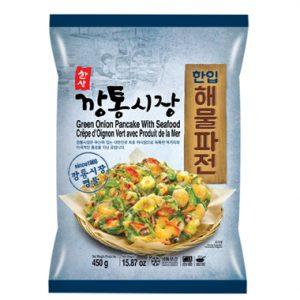 韩国冷冻海鲜蔬菜煎饼450g/Korean Green Onion Pancake With Seafood 450g