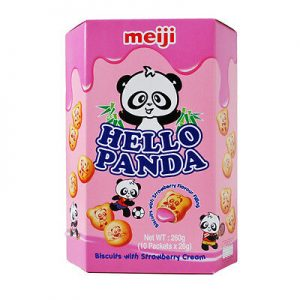 MEIJI明治Hello Panda草莓巧克力夹心饼干大盒装260g/MEIJI Hello Panda Strawberry Chocolate Biscuits 260g