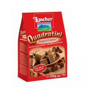 意大利Loacker威化饼干拿破仑松子口味125g/Loacker Quadratini Napolitane Flavor 125g