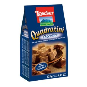 意大利Loacker威化饼干巧克力味125g/Loacker Quadratini Chocolate Flavor 125g