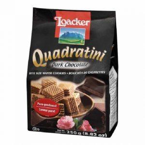 意大利Loacker威化饼干黑巧克力味125g/Loacker Quadratini Dark Chocolate Flavor 125g