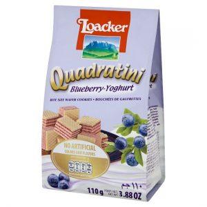 意大利Loacker威化饼干蓝莓奶酪味110g/Loacker Quadratini Blueberry Yogurt Flavor 110g