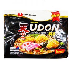韩国Nongshim农辛天妇罗乌冬面5包装590g/Nongshim Tempura Udon Noodle Soup 5pk 590g