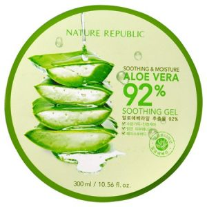 韩国NATURE REPUBLIC自然乐园补水芦荟胶300ml/NATURE REPUBLIC Soothing And Moisture Aloe Vera 92% Soothing Gel