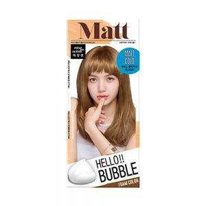 韩国MISE EN SCENE爱茉莉 HELLO BUBBLE泡沫染发剂 哑光金色单组入/Miseenscene Hello Bubble Hair Dyeing Coloring Color Matt Gold