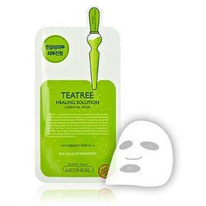韩国MEDIHEAL美迪惠尔茶树针剂祛痘收毛孔控油面膜单片入/MEDIHEAL Teatree Care Solution Essential Mask 1Sheet