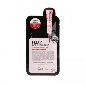 韩国MEDIHEAL美迪惠尔H.D.P收缩毛孔竹炭矿物面膜1片入/MEDIHEAL H.D.P Pore-Stamping Charcoal Mineral Mask 1sheet