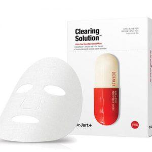 韩国DR.JART+蒂佳婷红色药丸胶囊动力舒缓修护面膜5片装/DR.JART+Dermask Clearing Solution Mask 5Sheets