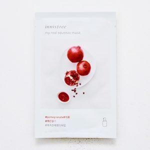 韩国INNISFREE悦诗风吟悦享鲜萃红石榴面膜单片入/INNISFREE My Real Squeeze Mask Pomegranate 1sheet