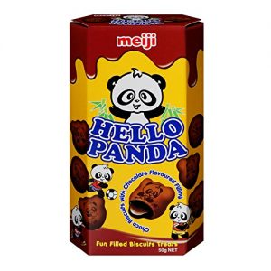 MEIJI明治Hello Panda可可巧克力夹心饼干50g/MEIJI Hello Panda Cocoa Chocolate Biscuits 50g