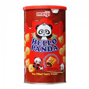 MEIJI明治Hello Panda巧克力夹心饼干桶装400g/MEIJI Hello Panda Chocolate Biscuits 400g