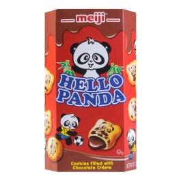 MEIJI明治Hello Panda巧克力夹心饼干50g/MEIJI Hello Panda Chocolate Biscuits 50g