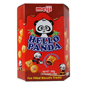 MEIJI明治Hello Panda巧克力夹心饼干大盒装260g/MEIJI Hello Panda Chocolate Biscuits 260g