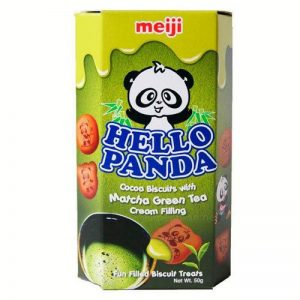 MEIJI明治Hello Panda浓郁抹茶巧克力夹心饼干50g/MEIJI Hello Panda Matcha Green Tea Flavor Chocolate Biscuits 50g