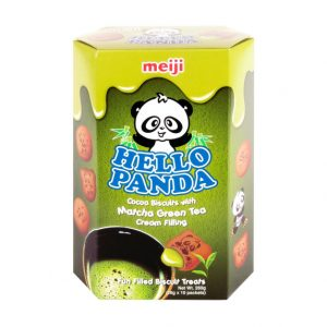 MEIJI明治Hello Panda浓郁抹茶巧克力夹心饼干大盒装260g/MEIJI Hello Panda Matcha Green Tea Flavor Chocolate Biscuits 260g
