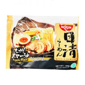 日本Nissin日清九州黑麻油豚骨拉面106g/Nissin Kyushu Black 106g