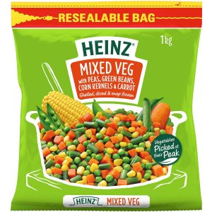 Heinz冷冻混合蔬菜粒1KG/Heinz Frozen Mixed Vegetable 1KG