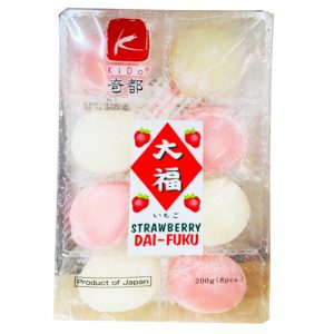 日本KIDO奇都大幅麻薯香草草莓味200g/KIDO Strawberry DA-FUKU 200g