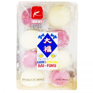 日本KIDO奇都大幅麻薯奶油蓝莓味200g/KIDO Blueberry&Custard Cream DA-FUKU 200g