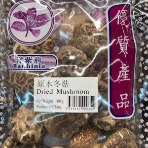 洋紫荆/原木冬菇 100G/YZJ DRIED MUSHROOM 100G
